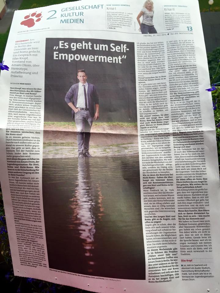 """Rusch, H. (31.07.2015): """"Es geht um Self-Empowerment"""". In: taz, S. 13."""