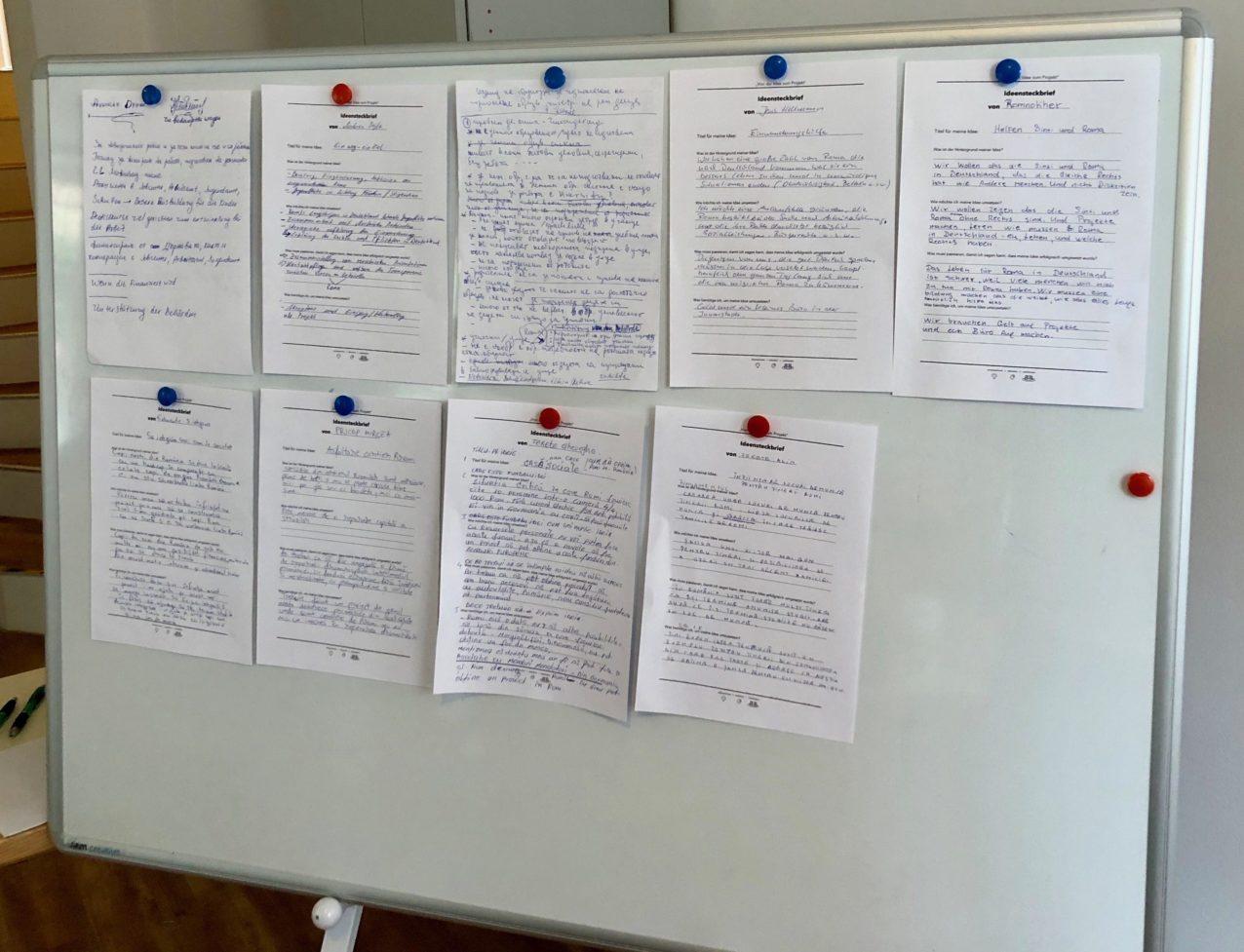 Projektsteckbriefe der Teilnehmenden (2018)